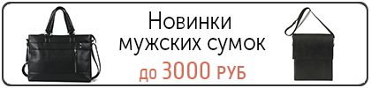 Новинки мужских сумок до 3000 руб
