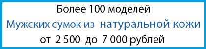 Мужские сумки из натуральной кожиот 2500 до 7000 рублей
